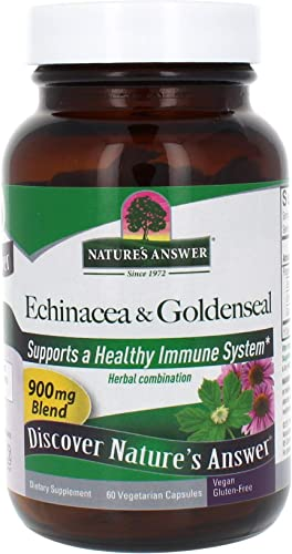Nature s Answer Echinacea Goldenseal Herb Root , Vegetarian Capsules, 60-Count