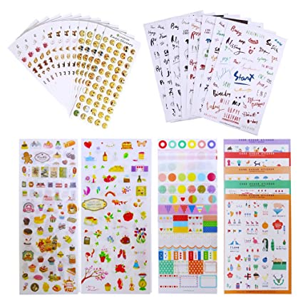 43 Sheets Journal Stickers for Planner Scrapbook, Journal Sticker Set for  Crafts Diary Album Decoration, 1957PCS