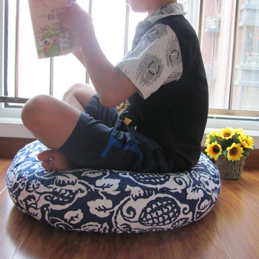 Hxxxy Tonda Stuoia di Tatami Grande,Futon Puro Mano-Ispessito Cuscino di Seduta sfoderabile e Lavabile Stuoia del Pavimento Giapponese-B 70x70cm(28x28inch)