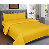 Magnetic Shadow Bed Sheet Double with Pillow Cover King Size, Solid Bed Sheet 90X100 inch
