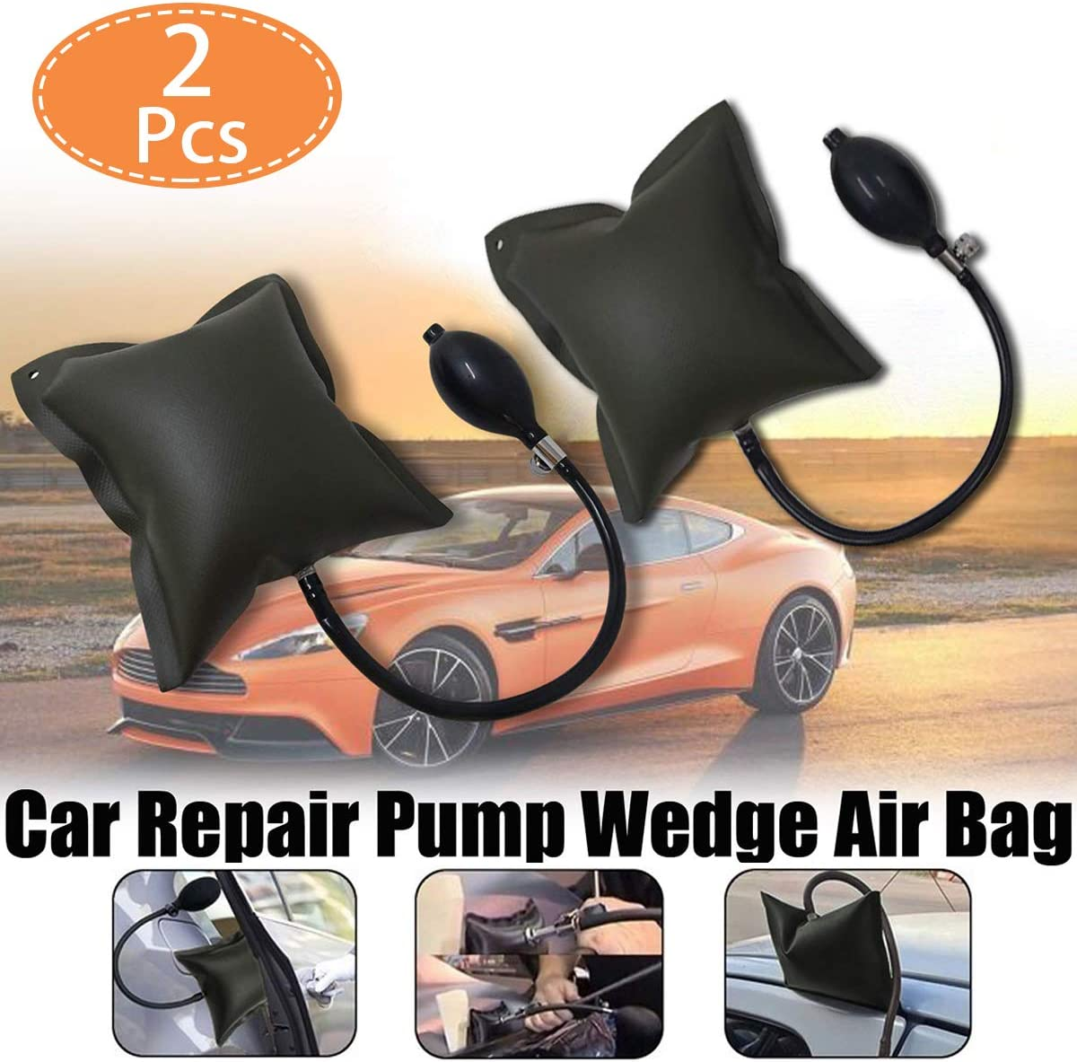 2 PCS Air Pump Bag Wedge Thick Leveling Kit and Installation