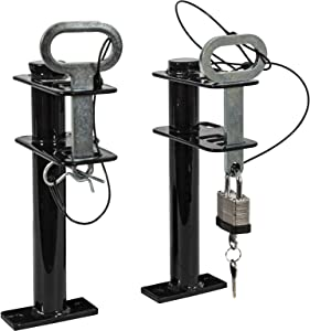 Buyers Products LT16 1 Channel Lockable Trimmer Rack, 1-Position, Black