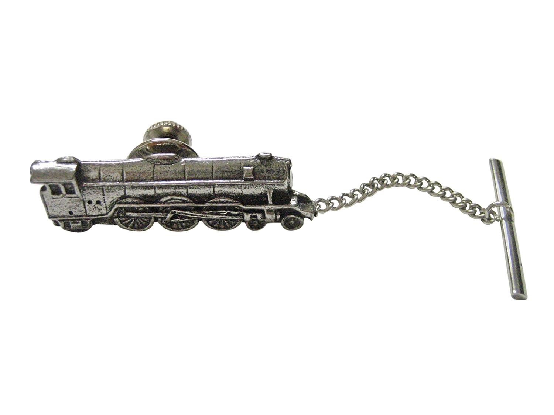 Kiola Designs Plateado Toned con Textura Locomotora Tren Corbata ...