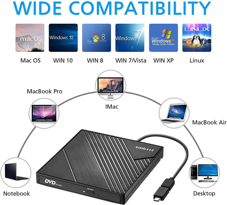 USB 2.0 External CD//DVD Drive for Compaq presario v3010au
