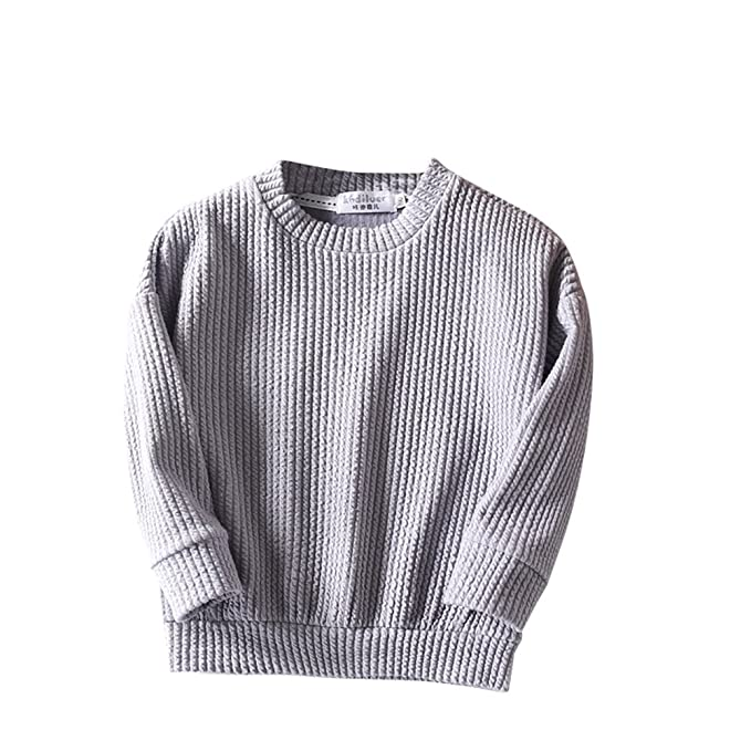 6a21488290d2 Amazon.com  LOSORN ZPY Toddler Baby Boy Girl Pullover Sweaters ...