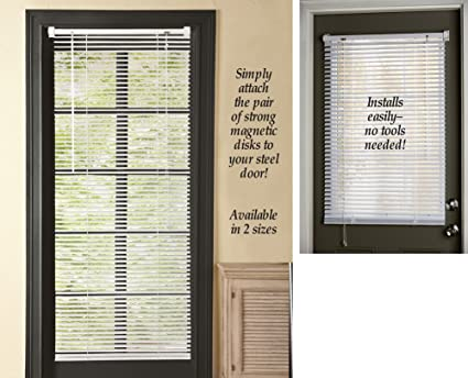 Amazon Com Magnetic Window Blinds White 25 X 40 Home Kitchen