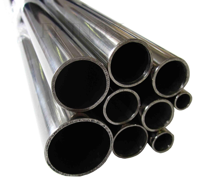Tubo de acero inoxidable 30 mm x 1,5 mm x 1 metro pulido espejo 316