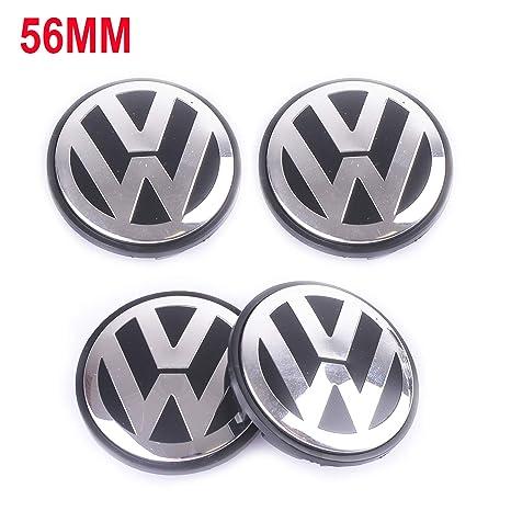 Wheel Center Caps Hubcap-4PCS 56mm 2.22 Chrome Cap Cover Badge Emblem fit for Volkswagen VW Caddy EOS Golf Jetta Passat CC Phaeton Scirocco Sharan ...