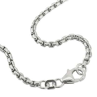 f8e4bbde91f0 Venezianerkette 925 Sterlingsilber Rhodiniert Rund Breite 2,70mm Unisex Silberkette  Halskette NEU (42 Zentimeter)  Amazon.de  Schmuck