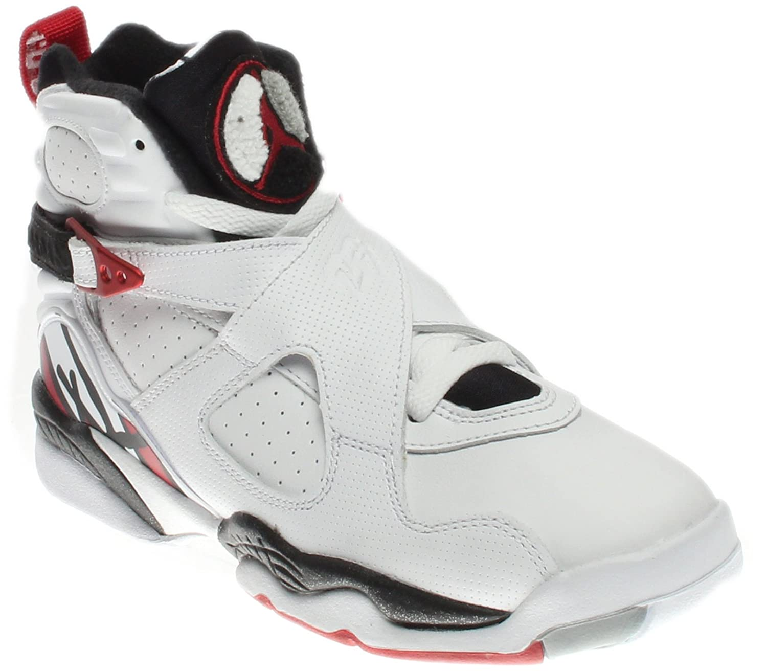 deb6b161fe66e Amazon.com | Nike Kids Air Jordan 8 Retro GS White/Red/Black 305368 ...
