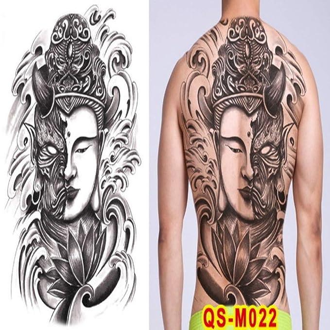 2 unids-Tatuaje japonés Geisha Femenino Tatuaje Temporal Espalda ...