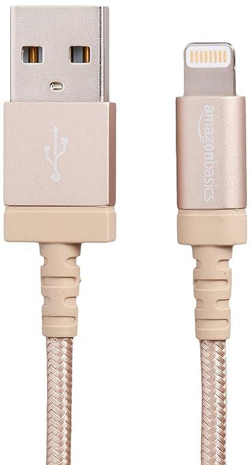 364 opinioni per AmazonBasics- Cavo USB-Lightning con guaina in nylon intrecciato, certificato