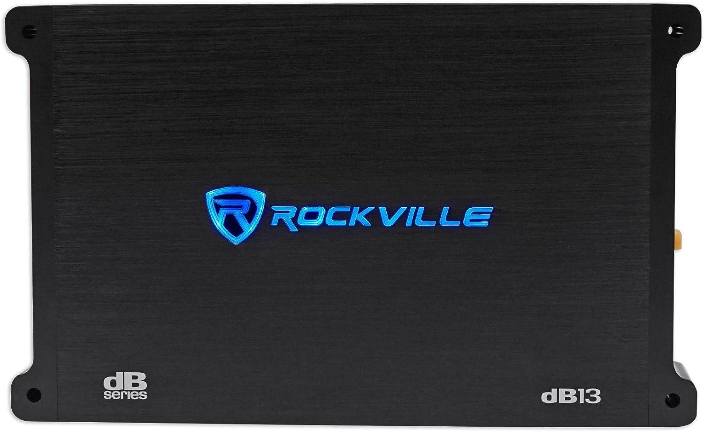 Rockville dB13 3000 Watt//1500w RMS Mono Car Amplifier+Memphis Audio Amp Kit
