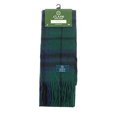 Clans Of Scotland Pure New Wool Scottish Tartan Scarf Austin (One Size)