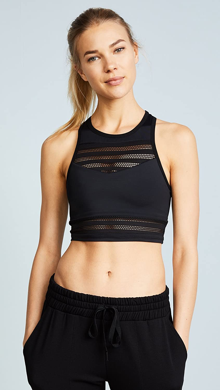 dfe089d9d99ef Amazon.com: Beyond Yoga Women's Mesh to Impress Bra Top, Black, X-Small:  Sports & Outdoors