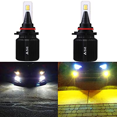 ALLA Lighting 8000Lm 9006 (HB4) LED Bulbs Dual Color Switchback 6000K White / 3000K Amber Yellow 9006 LED Fog Lights Bulbs or 9006 Headlight Bulbs Replacement for Cars Trucks (Set of 2): Automotive