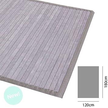 D Casa Bambus Teppich Bambusmatte 120x180 Grau Amazon De Kuche