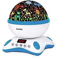 Moredig Sterrenhemel projector, muziek nachtlampje lamp 12 lichte muziek + 8 verschillende lichten voor kinderen…