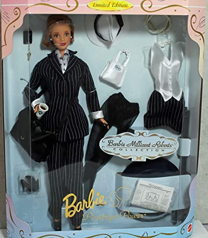 1997 Barbie Millicent Roberts Pinstripe Power Doll /& Extra Fashion Limited Edition Mattel 19791