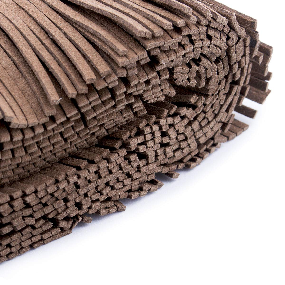 Summer-Ray 1 Yard 2.2 Faux Suede Fringe Wood Brown
