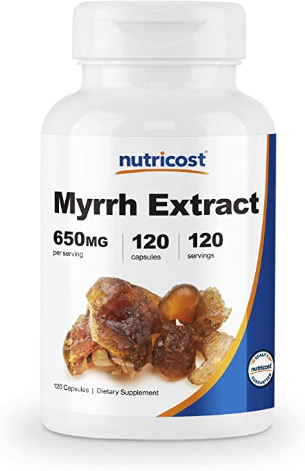 Nutricost Myrrh Exract Capsules 650 MG, 120 Capsules - Gluten Free, Vegetarian, Non-GMO
