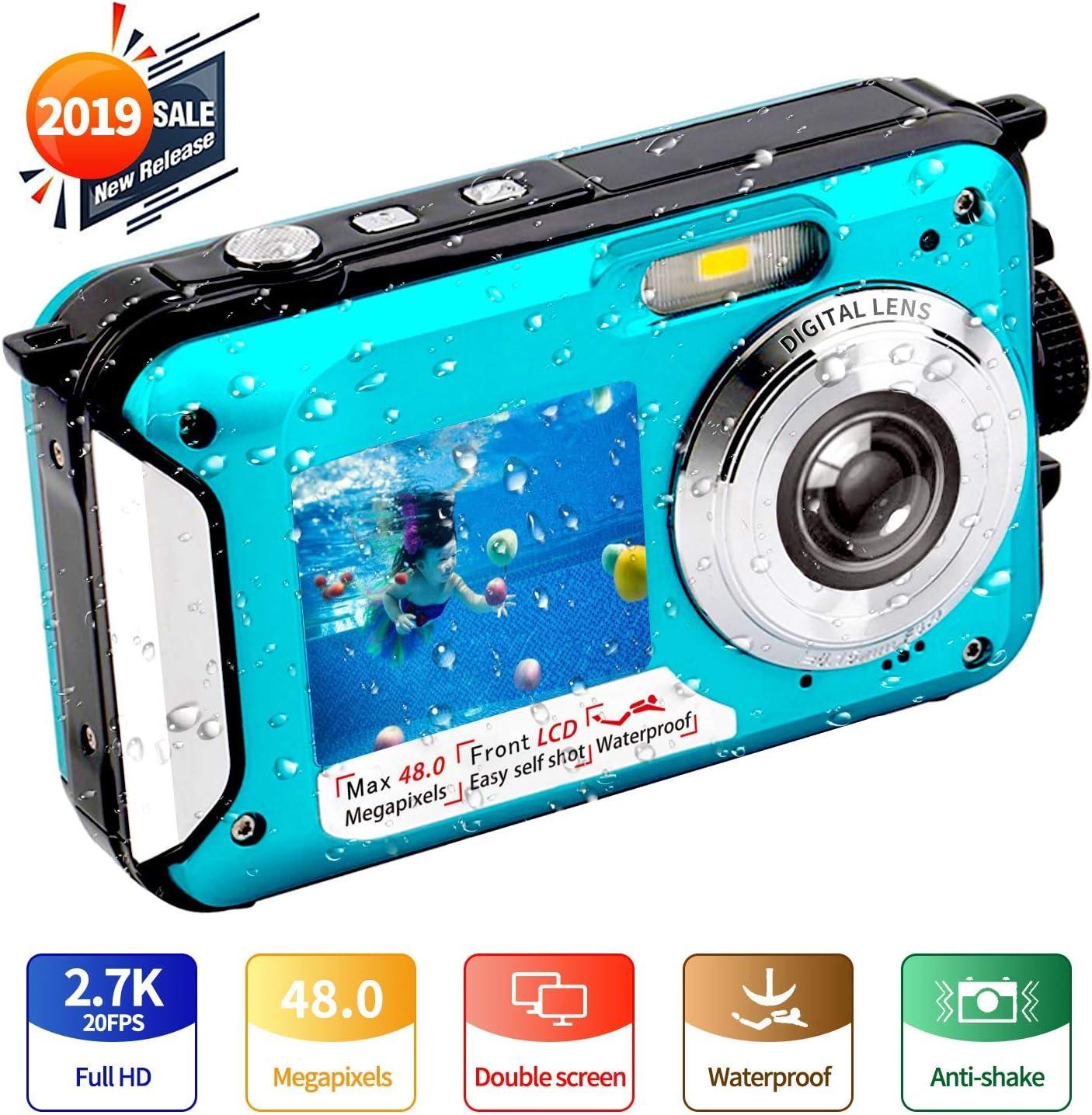 Camara Acuatica Full HD 2.7K 48 MP