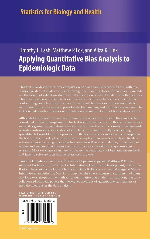 Applying Quantitative Bias Analysis to Epidemiologic Data (Statistics for Biology and Health)