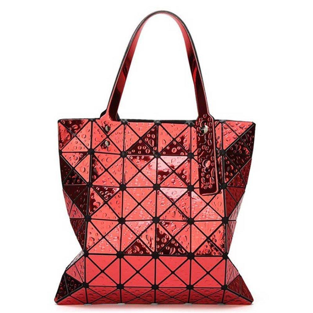66 Newest Tote Bags Geometry Drip Style Women Geometry Bao Tote Handbag red