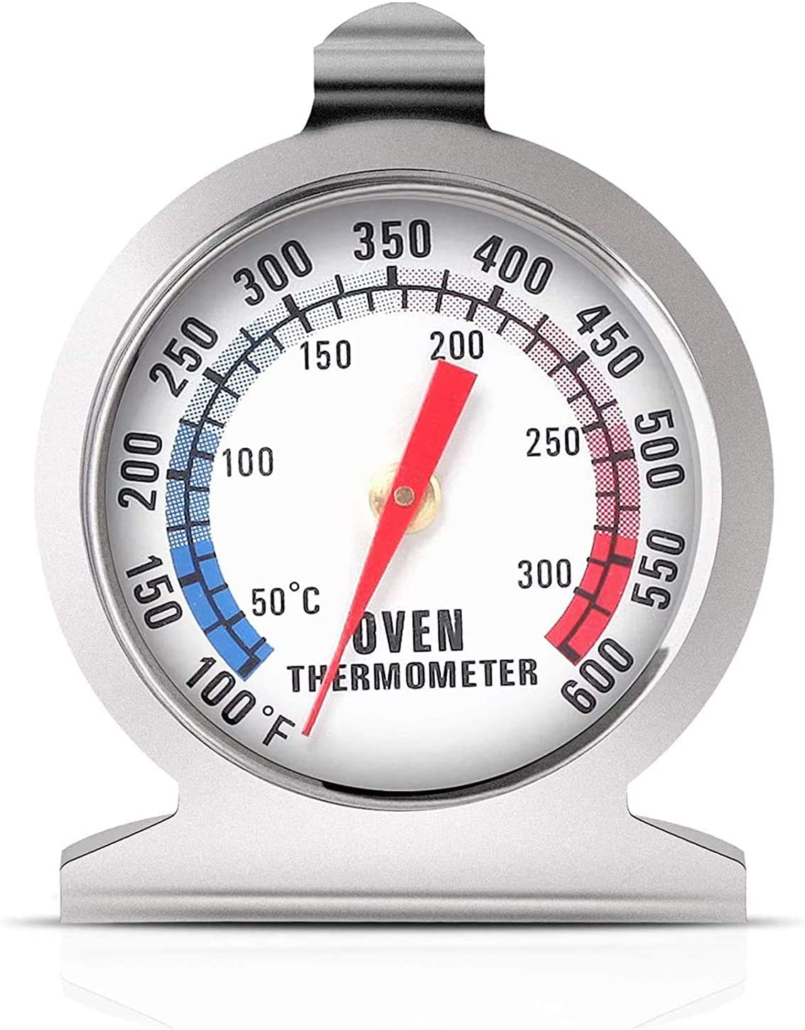 Oven Thermometers 50-300°C/100-600°F, Oven Grill Fry Chef Smoker Thermometer Instant Read Stainless Steel Thermometer Kitchen Cooking Thermometer for BBQ Baking