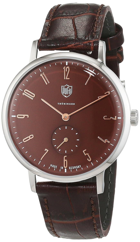 Dufa Deutsche Uhrenfabrik Unisex-Armbanduhr Analog Quarz Leder Walter Gropius DF-9001-0D