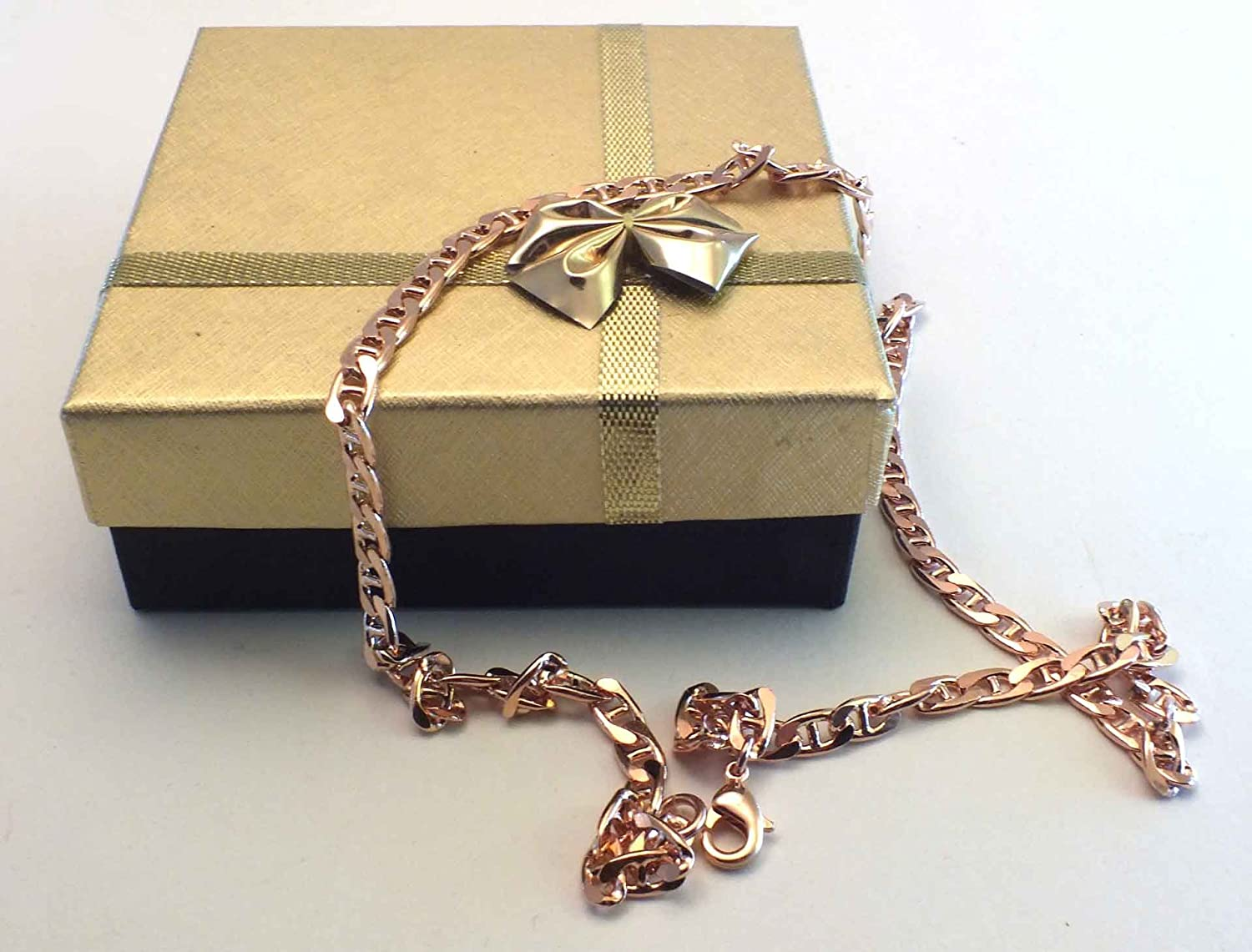TENDENZE Curb Chain Necklace 18ct Rose Gold Doublé 5mm/0.2