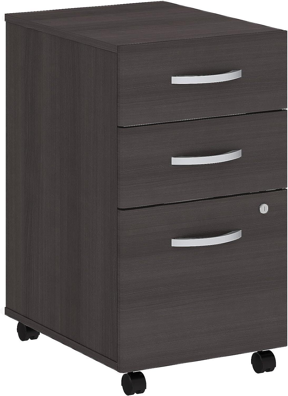 Bush Business Furniture Studio C 3 Drawer Mobile File Cabinet in Storm Gray