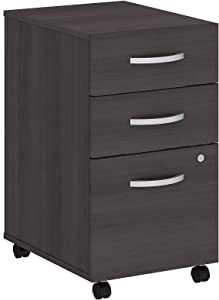 Bush Business Furniture Studio C 3 Drawer Mobile File Cabinet in Storm Gray