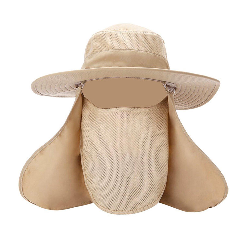 Pesca Cap & 360grados; exterior protector solar Sombrero desmontable Cuello cara Tapa–Tapas para hombres y mujeres Grifri