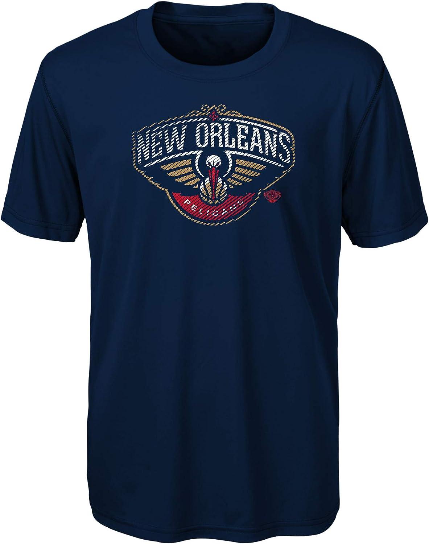 Dark Navy 5-6 NBA New Orleans Pelicans Kids /& Youth Boys Motion Offense Short Sleeve Performance Tee Medium