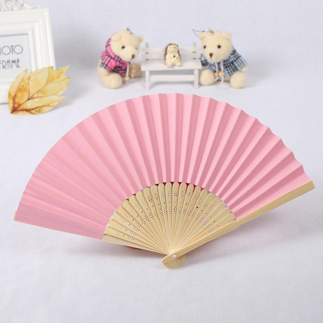 Amazon.com: Cinhent Hand Folding Fans Pattern Dance Wedding Chinese ...