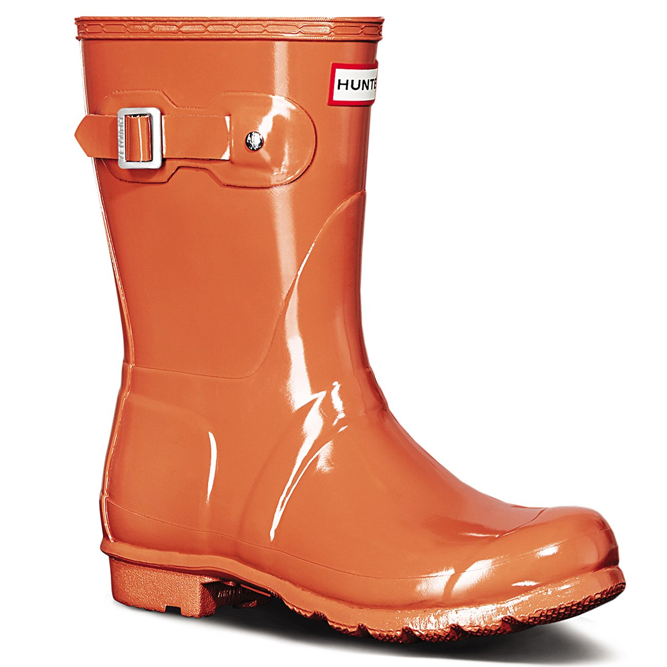 Women's Hunter Boots Original Short Gloss Snow Rain Boots Water Boots Unisex 5-10 B01DKRHTOE 7 M US|Sunset