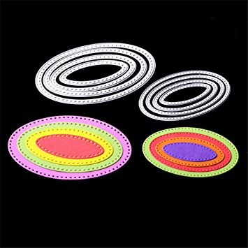 Oval Metal Cutting Dies Stencil Template Album Paper Cards Making