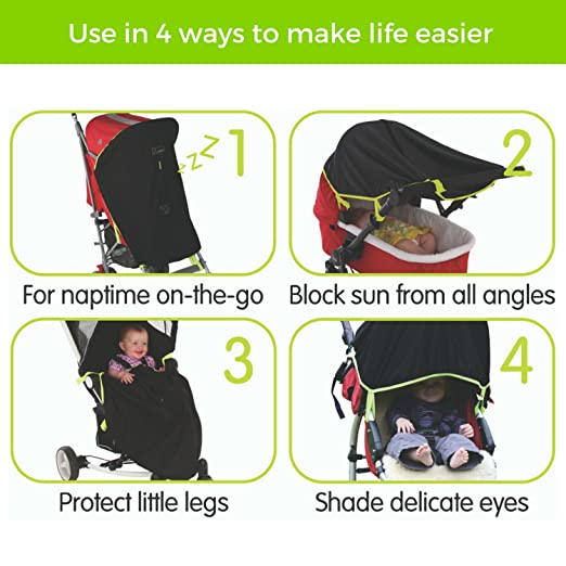 5a2c59d076 Amazon.com  Baby Sun Shade   Blackout Blind for Strollers