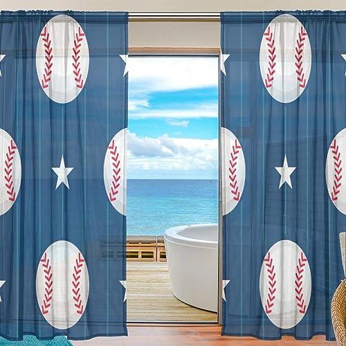 Reviewed: ANINILY Baseball Sport Seamless Pattern 55x84x2
