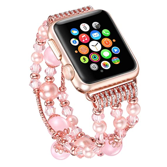 58542ddc6 fastgo Bling Band Compatible for Apple Watch Band 38mm 40mm iWatch Series  4, Series 3