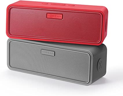 Amazon Com Xdream X Tereo Portable Wireless Stereo 2 0 Bluetooth Speaker Set Separate Left And Right Channel Red Grey Home Audio Theater