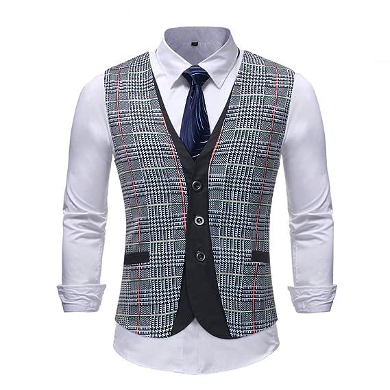 Sliktaa Gilet de Costume Homme Moderne Veste sans Manches Slim Fit Mariage  Business Loisirs  Amazon.fr  Vêtements et accessoires 5440c10ca9c