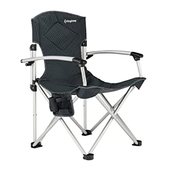 KingCamp Camping Chair Foldable Oversize Portable Padded Comfortable Smooth Armrest With Cup Holder And Storage Pocket