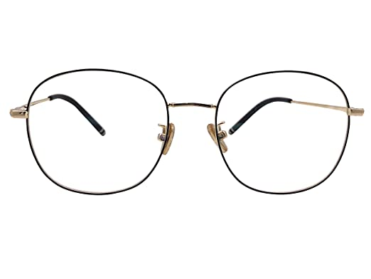 71130ef8f4 XYAS Unisex Electroplated Round Front Woman Retro Glasses Frames Korean  Style 1505 (Black-gold)  Amazon.co.uk  Clothing