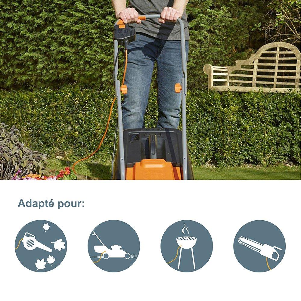 Electraline 20866138F - Enrollacables para jardín (25 m) color verde y gris: Amazon.es: Bricolaje y herramientas