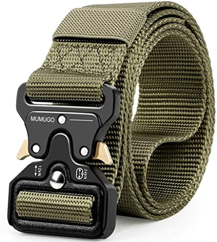 Military Belts For Men Tactical SANSTHS Thickness 1.5 khaki /& Black /& Green With