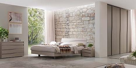 Camera da letto completa di armadio 6 ante, 2 comodini, comò e letto ...