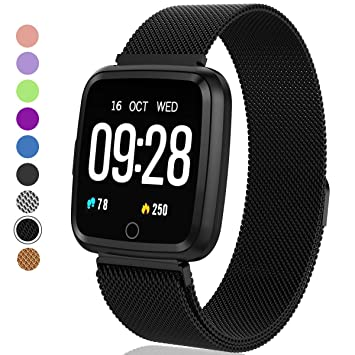 Fitness Tracker - Activity Tracker with Step Counter - Waterproof SmartWatch with Heart Rate Monitor - Fit Watch Sleep Monitor Step Counter for ...