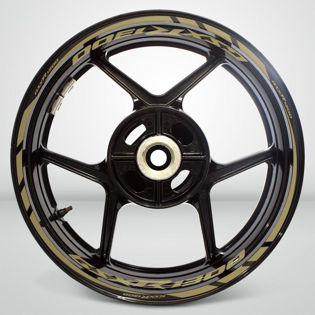 Gloss White Motorcycle Rim Wheel Decal Accessory Sticker for Suzuki GSXR 1300 Hayabusa